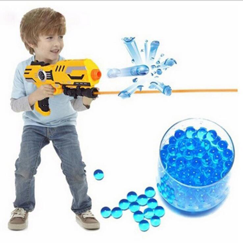 40g/Bag Colored Soft Crystal Bullet Electric Lianpeng Bullet Can Launch Water Bouncer Bulk Child Water Gun Bullet Toy