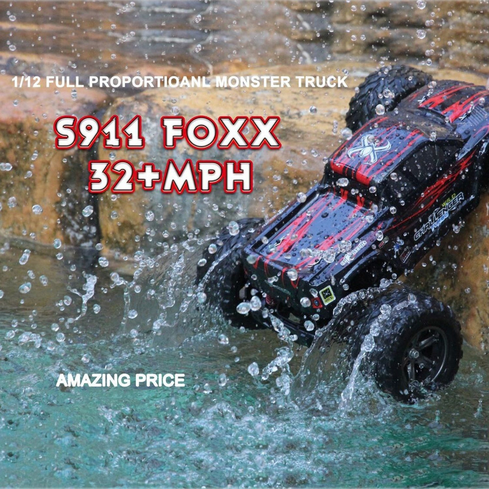 45kmH+ Gptoys S911 2.4 Ghz 2WD RC Car Remote Control Truck Crawler Drift Carrinho Controle Remoto Bigfoot Speed