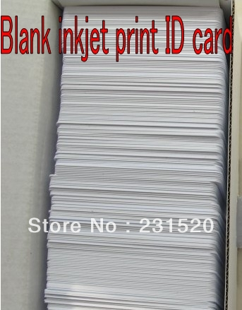Double Side 460pcs/lot Direct Inkjet Print Blank White ID PVC cards 0.76mm Thick used in Home Epson Inkjet Printer directly printing inkjet blank pvc card for epson printer r265 r310 r320 r350 r390 double side printable pvc id cards 230pcs box