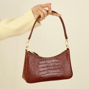 Image 3 - Casual Alligator Handbags Women Crocodile Pattern Messenger Bags Women PU Leather Shoulder Crossbody Bag Female Purse Hot Sale