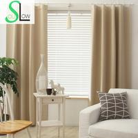 Slow Soul Rose Pink Sky Blue Light Naked Mint Green Dark Solid Curtains For Living Room