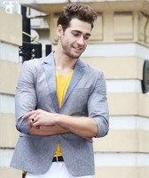 2016 Design Fashion Stylish One Button Suit Blazer Coat Jacket Tops Men S Casual Slim Fit