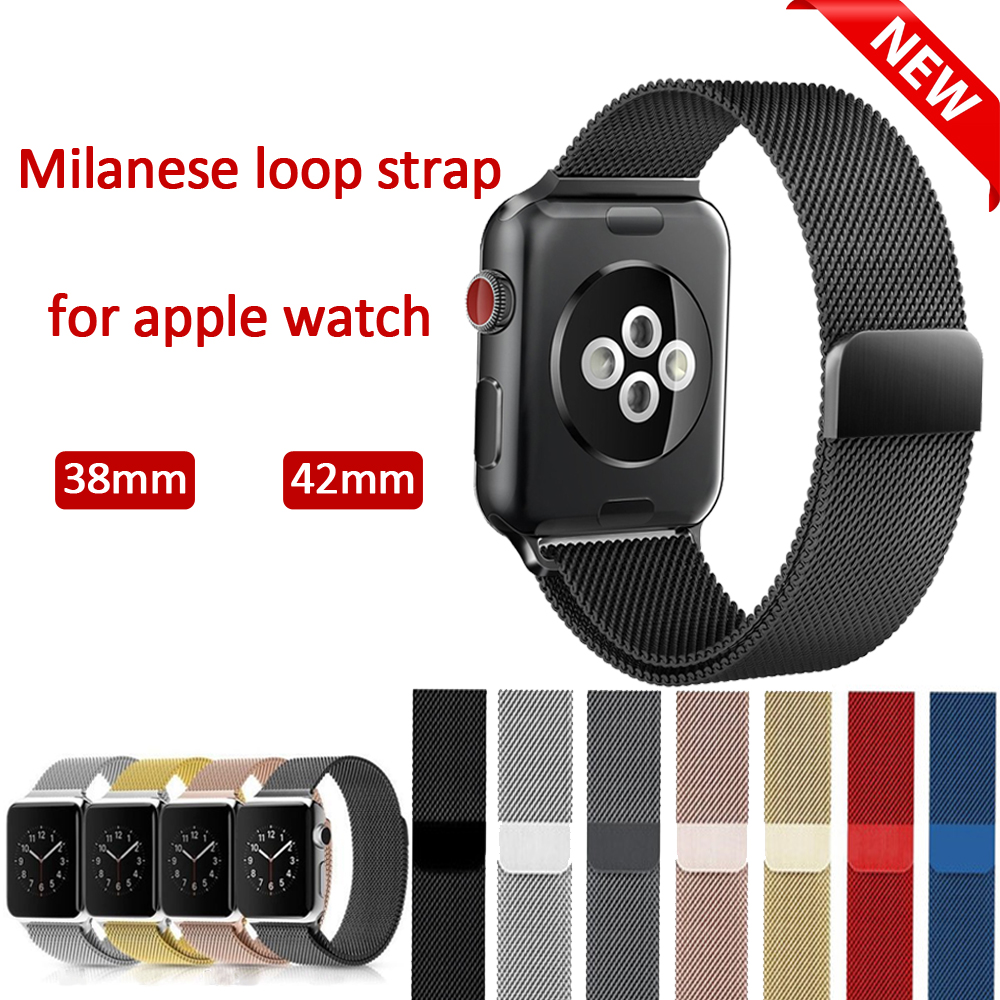 Milanese Loop for Apple Watch band Strap 42mm 38mm iwatch series 3/2/1 Stainless Steel Bracelet WatchBand Metal Belt Wristband milanese loop watch band strap for apple watch 38mm 42mm bracelet belt stainless steel mesh watchband for iwatch series 1 2