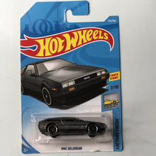 New Arrivals 2018 8M Hot Wheels 1:64 BLACK DMC DELOREAN Car Models Collection Kids Toys Vehicle For Children hot cars(China)