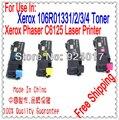 Цветной Тонер Для Xerox Phaser C6125 Принтер, Для Xerox Refll Тонер 106R01331/2/3/4 Тонера для Xerox Phaser 6125 6125n Цветной Принтер