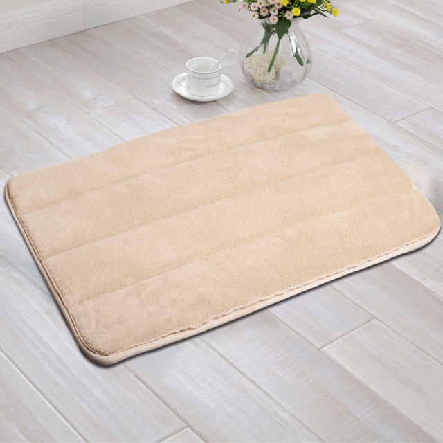 Memory Foam Anti Skid Bath Mat Super Soft Bathroom Rugs C Velvet Non Slip
