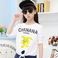 Good Quality Kids Girls Banana T-shirt Long Sleeve Cotton Baby Girl Shirts Clothes Children Kids Print Banana T Shirt