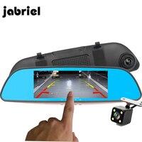 Jabriel Car DVR With Two Cameras Rear View Mirror Auto Registrator Drive Digital Car Video Recorder Dash Cam Dual Lens HD Dvrs