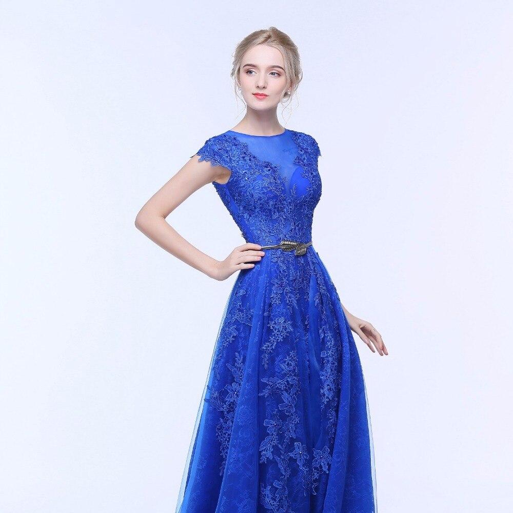 ANTI Royal Blue Mermaid Aftonklänning O-Neck Lace Två Stycken - Särskilda tillfällen klänningar - Foto 4