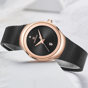 Image 4 - Relogio Feminino Women Watch NAVIFORCE Top Brand Luxury Fashion Ladies Quartz Watches Mesh Stainless Steel Casual Clock Girl