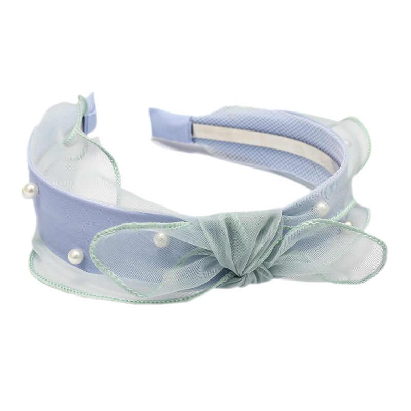 ลูกไม้ Headband เพิร์ลอุปกรณ์เสริมผม Elsa Alice สำหรับผมผู้หญิงสีชมพูสีเหลืองสีฟ้า Head Band เจ้าสาวผมอุปกรณ์เสริม