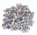 Hot atacado 50 pçs/lote Mix de Alta qualidade Muitos estilos 12mm de Metal Botão Snap Charme Strass Estilos relógios Botão Snaps jóias