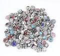 Hot wholesale 50pcs/lot High quality Mix Many styles 12mm Metal Snap Button Charm Rhinestone Styles Button watches Snaps Jewelry