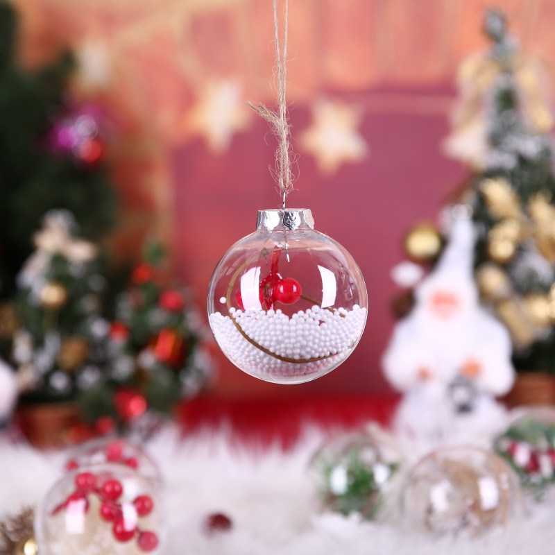Christmas Weddings Decorations: 2018 New 80MM Refillable Round Clear Plastic Ball