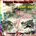 Самая низкая Цена 278 Шт. 30 Значения Полиэстер Пленочный Конденсатор Ассорти Комплект Ассортимент 470pf-470nf