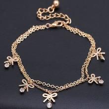 Простой цветок ножные браслеты ювелирные изделия золото цвет рука лодыжки цепи ног ювелирные изделия pulsera tobillo горячая Пентагон ножные браслеты для женщин pulsera