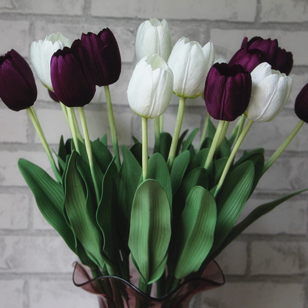 2017 Tulip Artificial Flower Cheap Bouquet Flowers Home Decoration