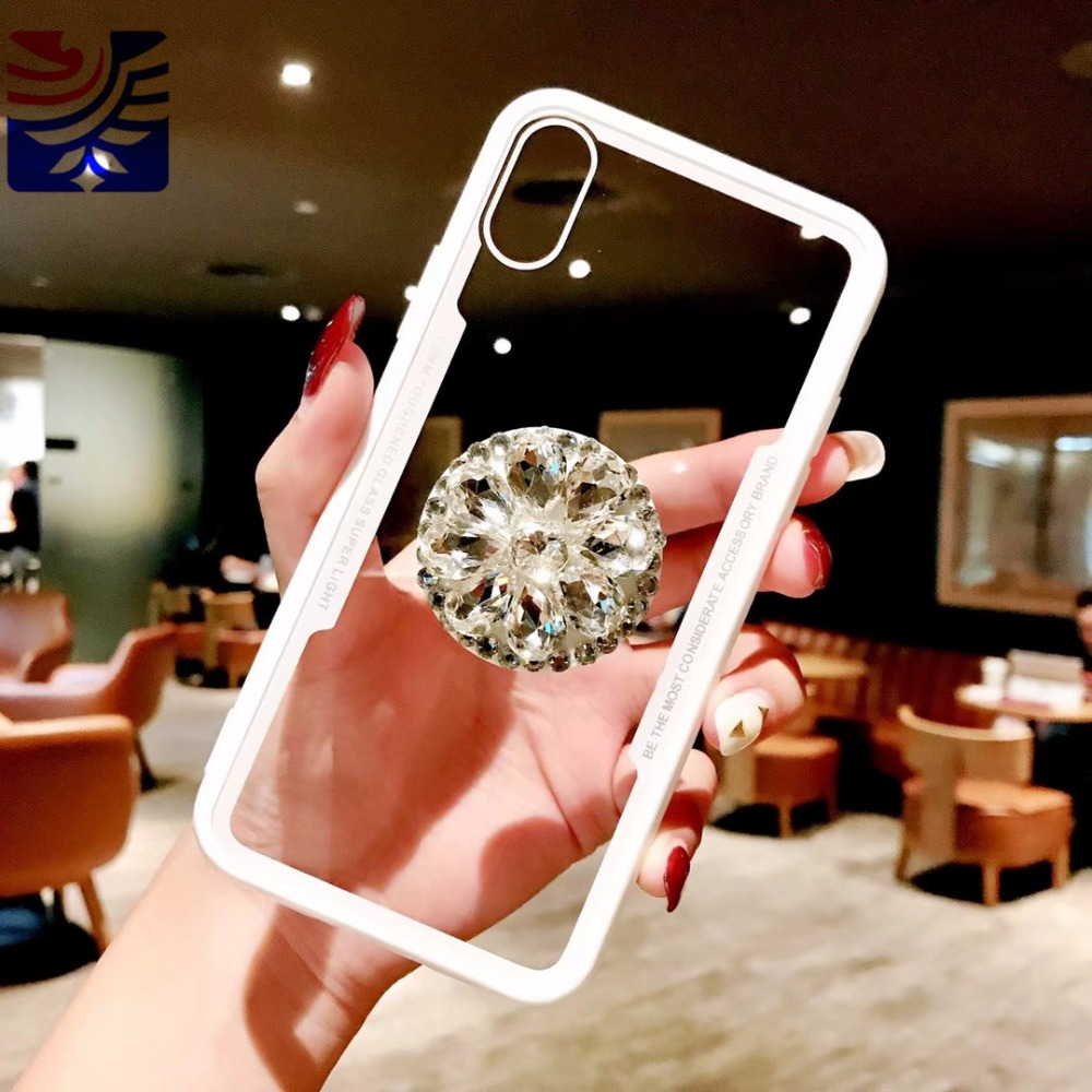 PEIPENG Luxury Transparent diamond phone case Phone Cases Thin and light  For iphone 6 6S 7 8 Plus X Xs Max Christmas gift05_