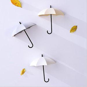 Image 3 - 3 adet/takım çok fonksiyonlu şemsiye duvar kanca sevimli şemsiye duvar montaj anahtarlık duvar kanca askı organizatör dayanıklı anahtarlık