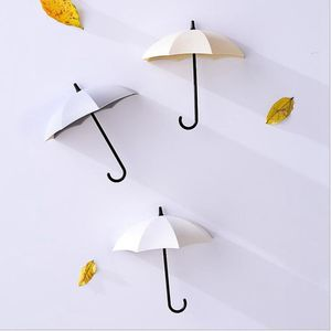 Image 3 - 3 개/대 다기능 우산 벽 걸이 귀여운 우산 벽 마운트 키 홀더 벽 걸이 걸이 주최자 내구성 키 홀더