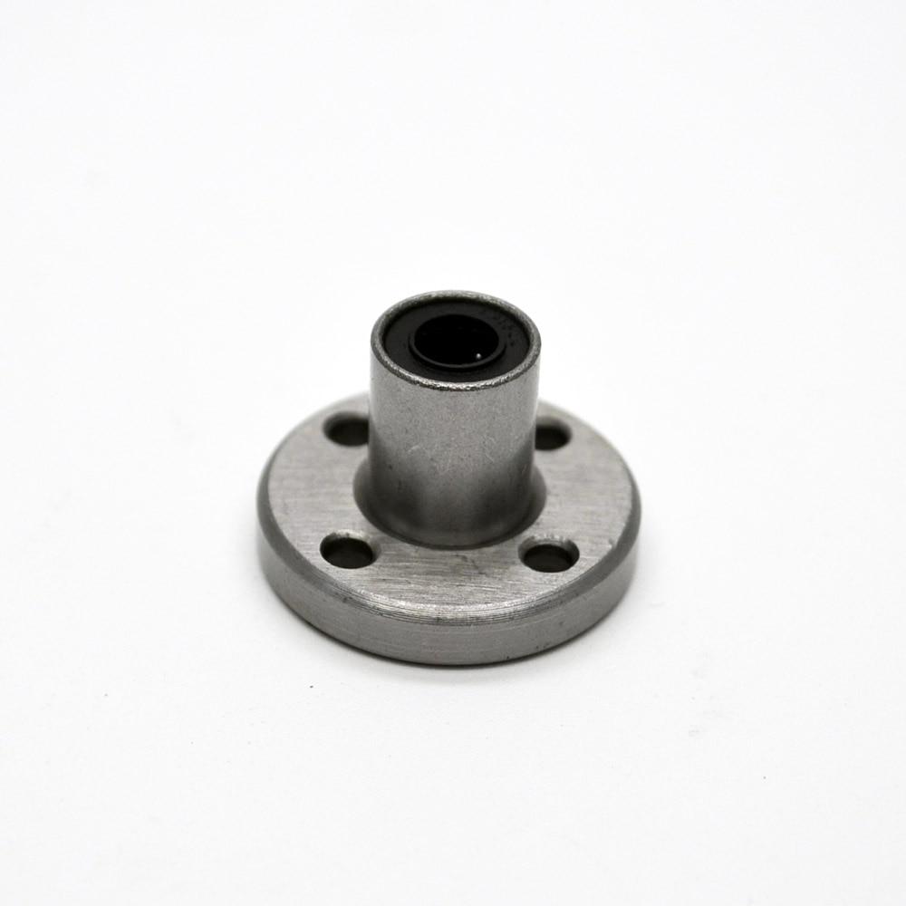 ФОТО LMF50UU 50mm x 80mm x 100mm Round Flange Linear Bushing Ball Bearing For 50mm Linear Shaft