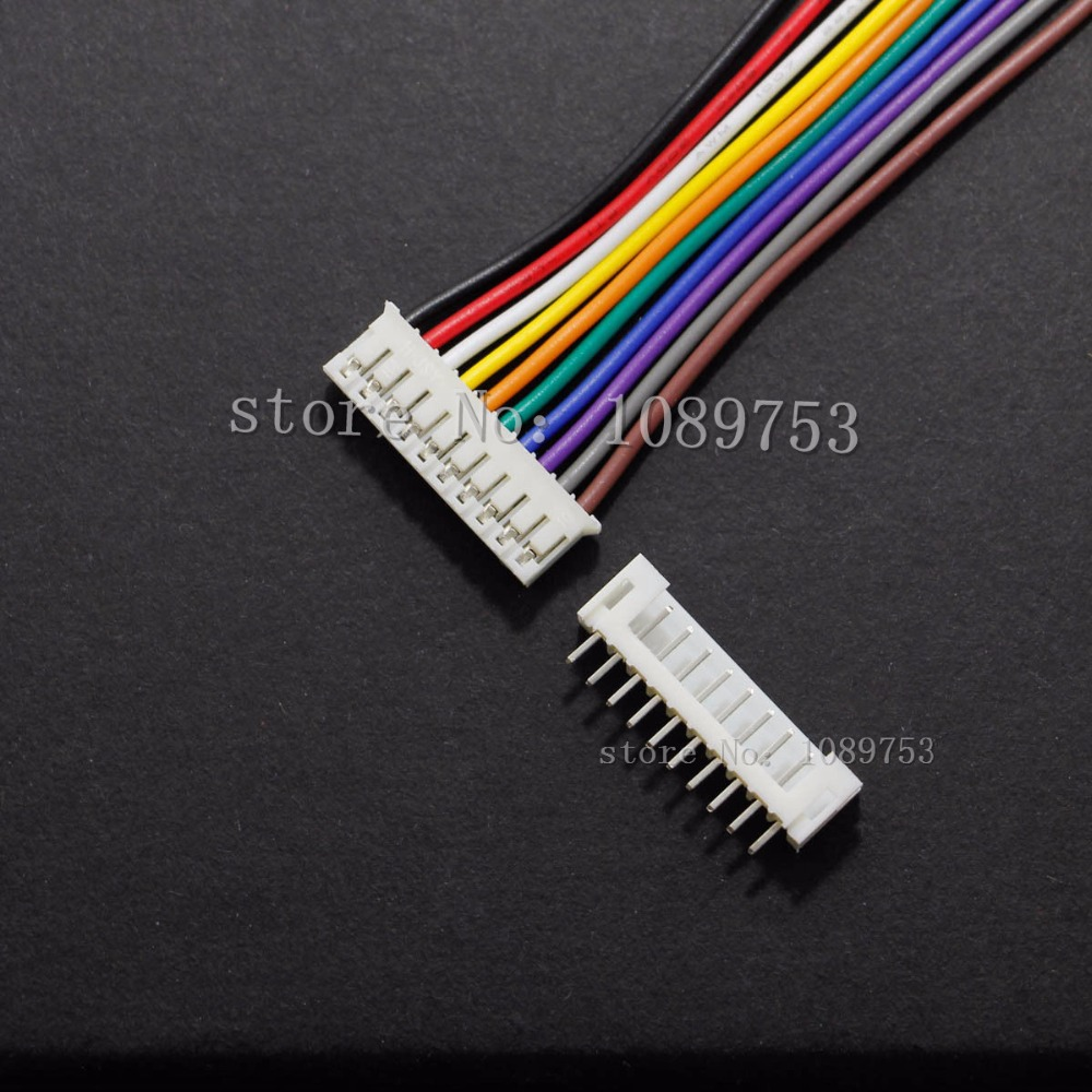 50 sets JST 2.0mm PH 10-Pin Female Connector with Wire 26AWG and Male Connector jst ph 2 0 2 pin connector plug male and female with crimps x 20 sets