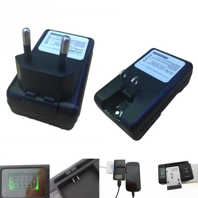 Prise ue chargeur de batterie universel LCD indicateur écran téléphone portable chargeur USB pour Samsung chargeur de batterie