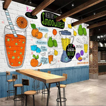 Custom wallpaper hand-painted restaurant tea shop fruit shop background wall painting advanced waterproof material free shipping custom wallpaper mural retro japanese traditional culture restaurant sushi shop background wall painting deco