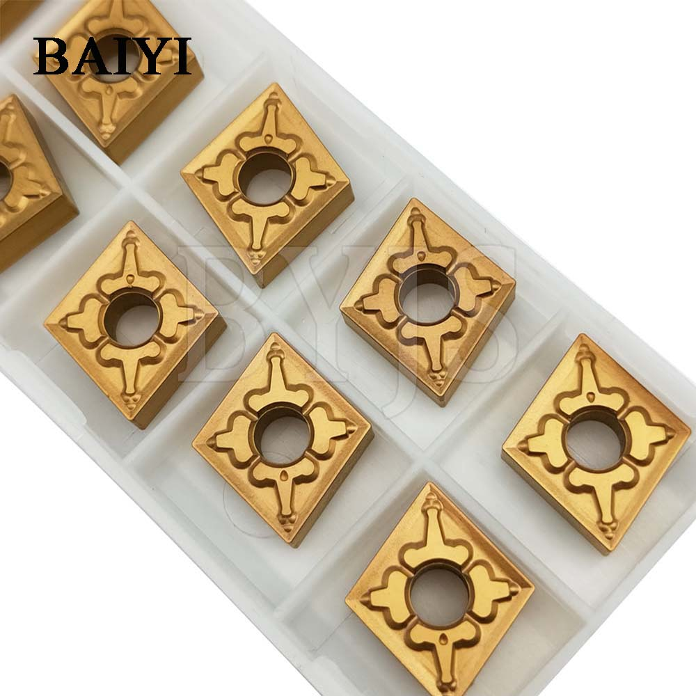 10pcs Tungaloy CNMG120404/08 TM T9125 cutter for machine type <font><b>CNMG</b></font> <font><b>120404</b></font> TM T9125 <font><b>CNMG</b></font> 120408 TM T9125 external turning cutter image