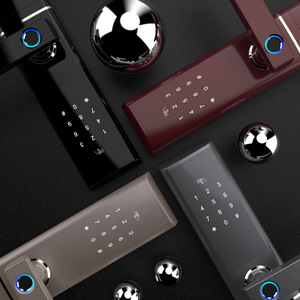 Image 4 - Akıllı elektronik kilit parmak izi kapı kilidi güvenlik akıllı kilit biyometrik Wifi kapı kilidi Bluetooth APP kilidini