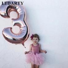 Globo con número de 40 pulgadas, globos de aluminio de helio para Baby Shower, suministros para decoración de bodas, 1, 2, 3, 4 y 5 números