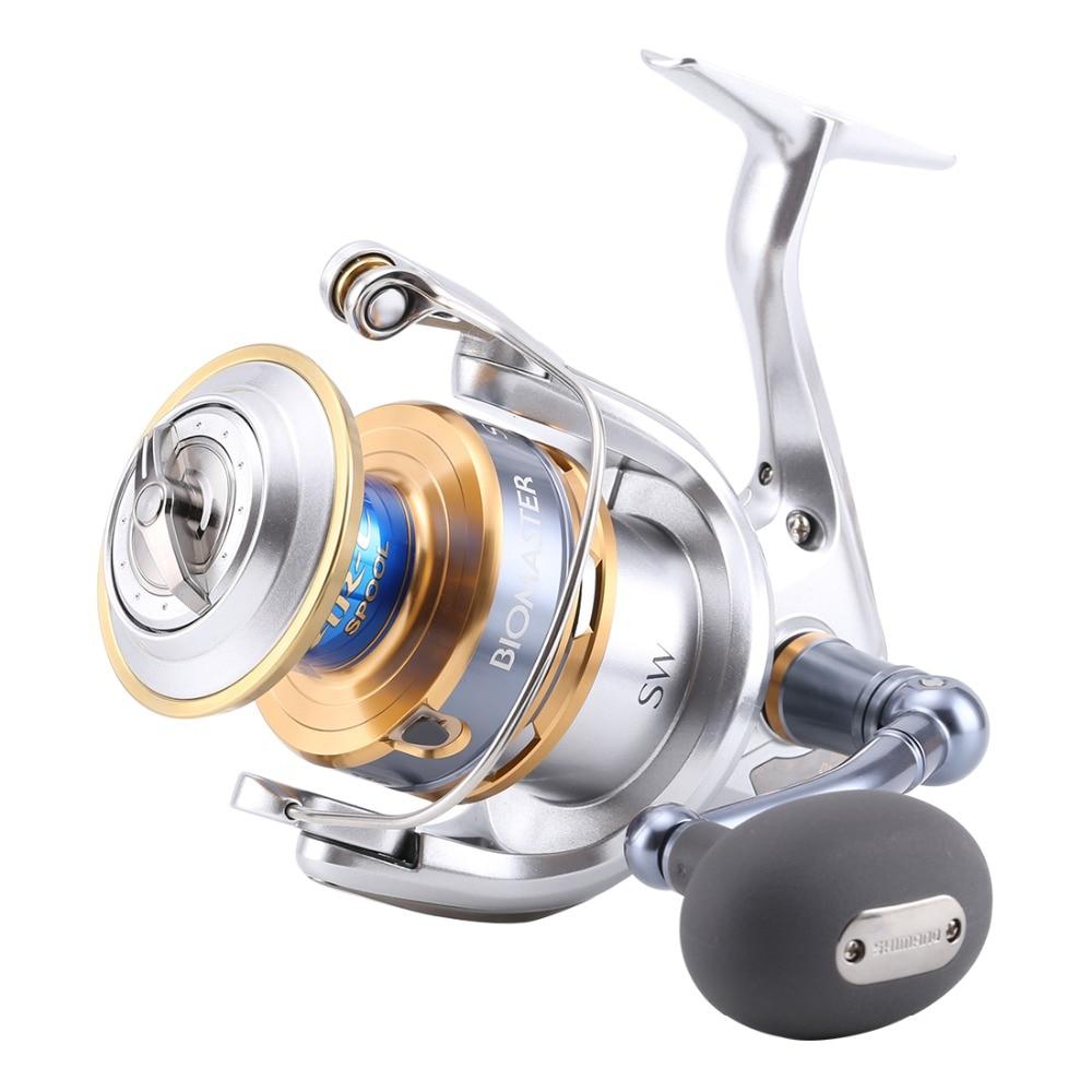 US $245 01 49% OFF|Original Shimano BIOMASTER SW 4000XG 5000XG 6000HG  8000PG 10000HG Spinning Fishing Reel 7BB X SHIP Saltwater fishing reel-in