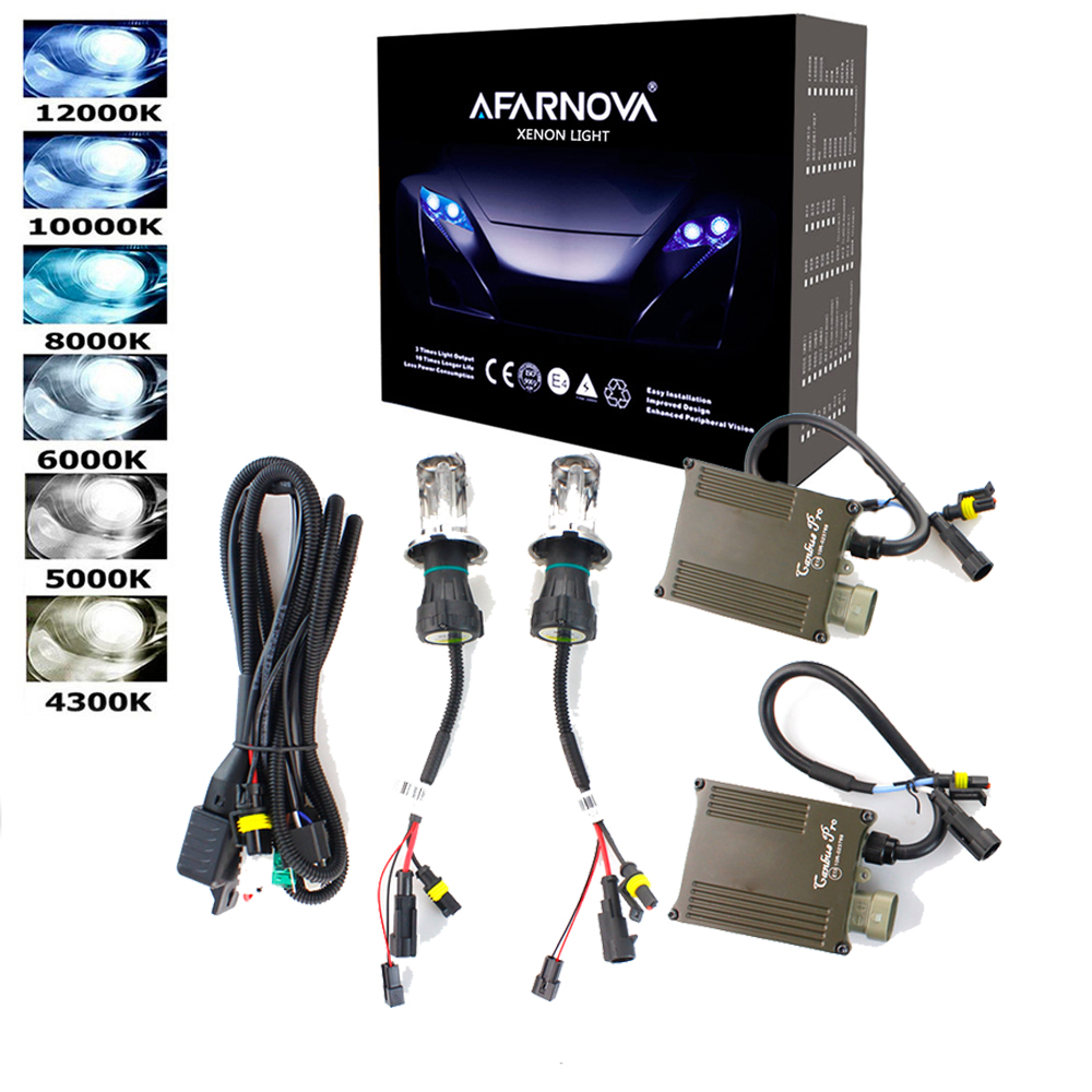 Xenon H7 35W AC canbus Ballast kit HID Xenon Headlight bulb 12V H1 H3 H11 55w h7 xenon hid kit 4300k 6000k Replace Halogen Lamp h7 55w 12v xenon hid kit car headlight slim ballast xenon bulb