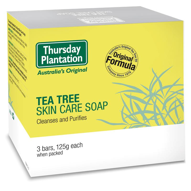 Thursday Plantation Tea Tree Soap 3PCS 125g deal for removing the build up of oil and