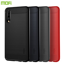 MOFi For Samsung Galaxy A70 Case Cover Shockproof Carbon Fiber Soft TPU Anti-Knock Cover Cases For Samsung Galaxy A70 Capa Coque for samsung galaxy a70 case silicone anti slip carbon fiber soft tpu back cover for samsung a70 2019 case funda slim texture