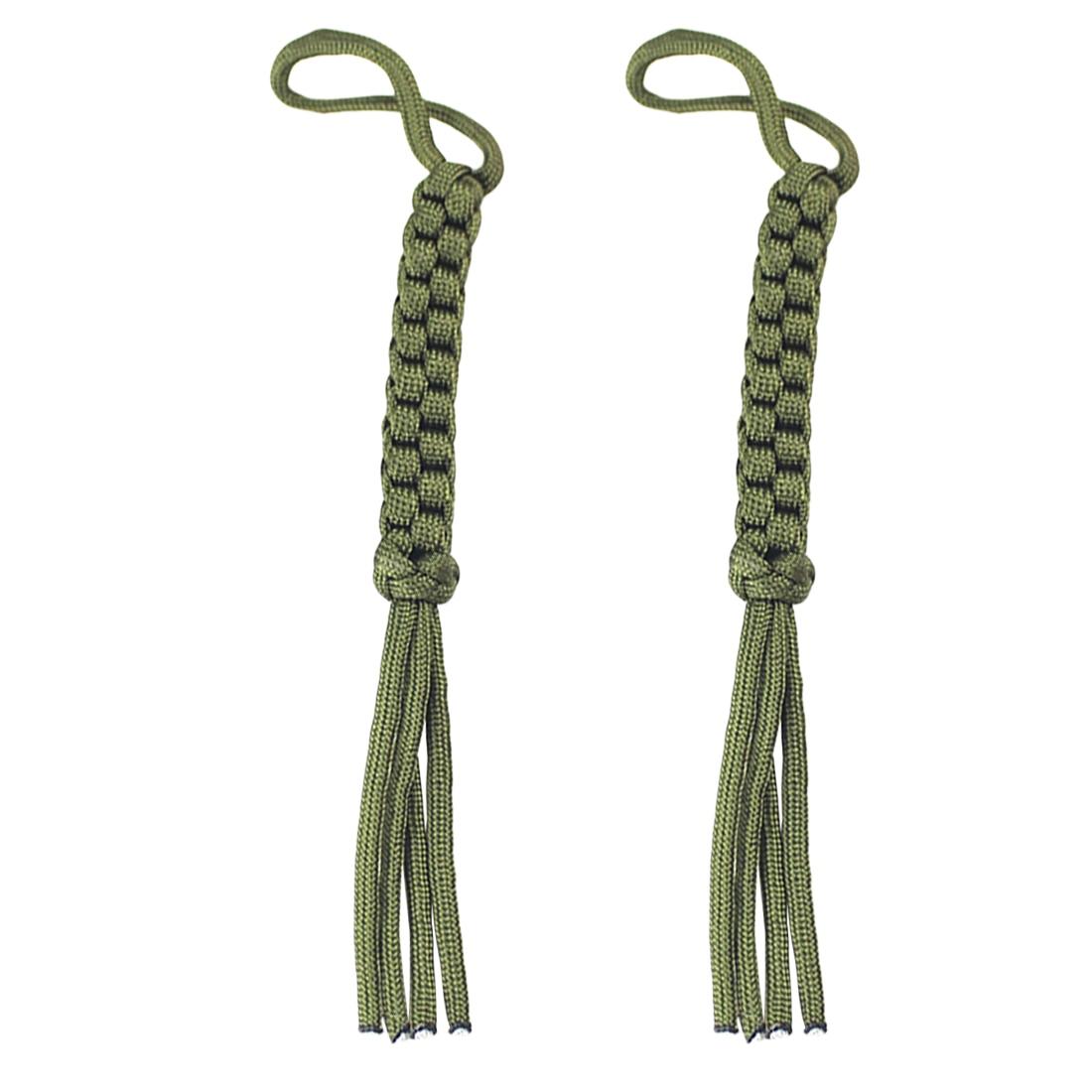 Practical 2Pcs/lot EDC Gear Corn Knot Umbrella Rope Nylon Chain Rope Tool Ornaments Falling Knife Knot Keychain DIY Tools