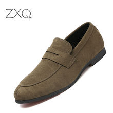 цена на Big Size 38-48 Men Casual Suede Leather Loafers Black Solid Leather Driving Moccasins Gommino Slip On Moccasins Shoes