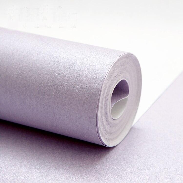 Купить с кэшбэком PAYSOTA Modern Simple Purple  Silk Silk High - grade Non - woven Wallpaper Living Room Bedroom Wedding Wall Paper Roll