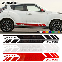 1 Pair Car Door Side Stripe Car Sticker Decal Automobiles Car Styling For Nissan Juke R Nismo Car Stickers Exterior Accessories