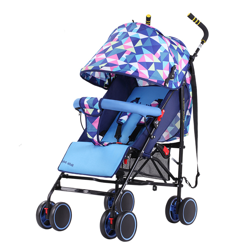 Baby stroller ultra-light portable folding child umbrella car shock absorbers simple baby trolley baby stroller babyruler ultra light portable four wheel shock absorbers child summer folding umbrella cart