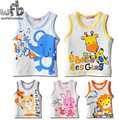 Retail 1-3years 5patterns baby boys girls kids cartoon sleeveless vest T-shirt children Clothing baby Clothes Infant kid Garment