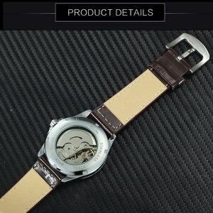 Image 5 - WINNER Reloj Automático oficial para hombre, correa de cuero, deportivo, de pulsera, mecánico, de negocios, informal