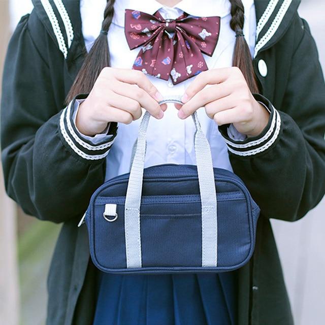 330f14d51d47 Cute Mini Japan Cartoon Cosplay Bag Preppy Style Canvas Handbag JK Uniform  Student Schoolbag Coin Purse