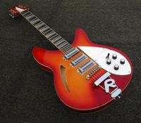 free shipping cherry burst 12 string electric guitar 330 semi hollow body guitar