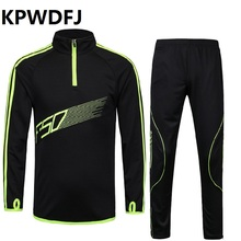 wholesale Soccer Jerseys Sets Polyester Long Sleeve Sportswear Boys Football Tracksuits Children Sport Training Kits Soccer Suit