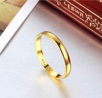 999 г. однотонные 24 К кольцо из желтого золота/Благослови Для мужчин и Для женщин кольцо/us Размеры: 9