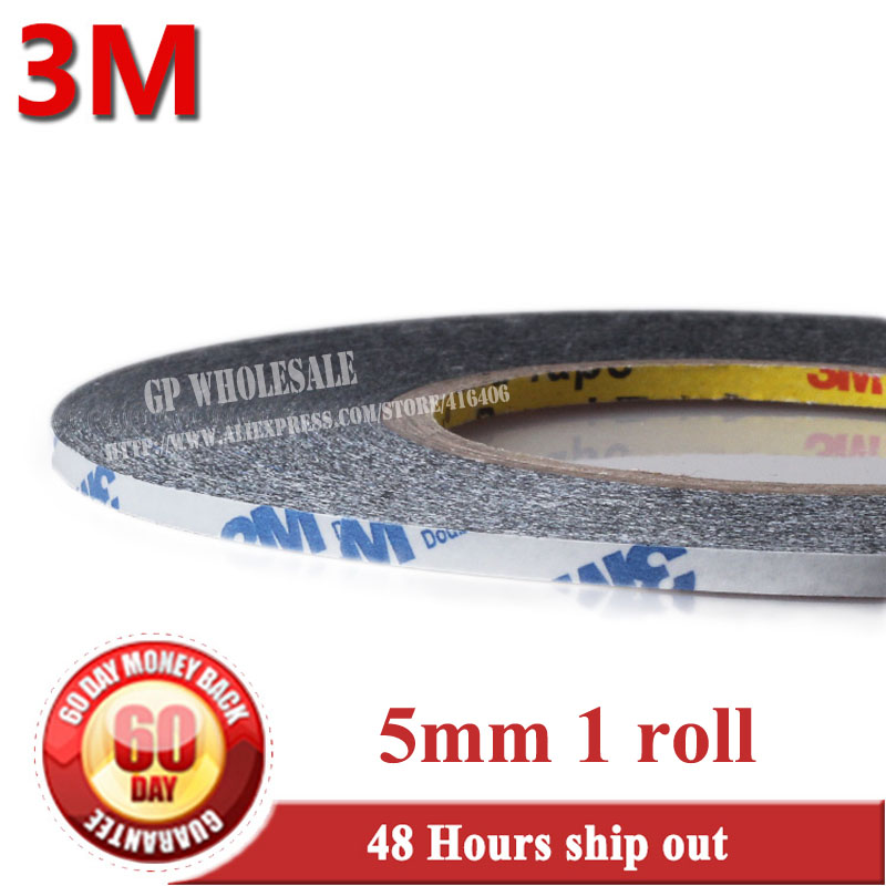 (5mm *50 meters) 3M 9448 Black Double Sided Adhesive Tape for Android MobilePhone Tablet LCD Display Touch Screen Glass Housing