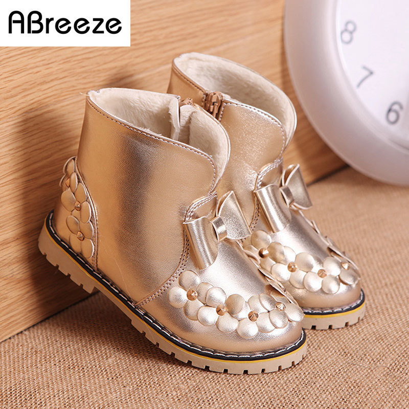 2016 New autumn winter children boots fashion PU waterproof boots for girls 3-8T flat with kids snow boots warm girls shoes