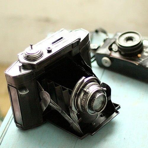 Vintage métal caméra tirelire banque de pièces nostalgie artisanat cadeau d'anniversaire décor à la maison pièce tirelire métal Miniatures