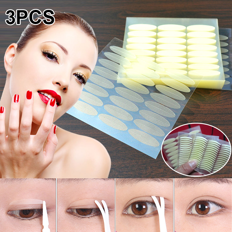 3Pcs Invisible Double Eyelid Tape Transparent Waterproof Breathable Self-adhesive Double Eyelid Sticker Tape Tools